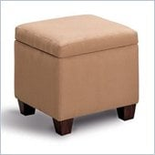 Coaster Accent Cube Tan Microfiber Foot Stool