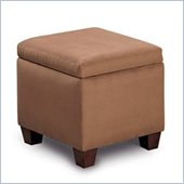 Coaster Accent Cube Brown Microfiber Foot Stool