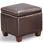 Coaster Accent Cube Dark Brown Vinyl Foot Stool
