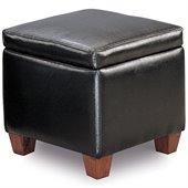 Coaster Accent Cube Black Vinyl Foot Stool