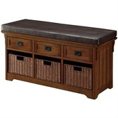 Coaster Small Storage Bench with Upholstered Seat