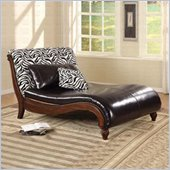 Coaster Zebra Animal Print Chaise Lounge