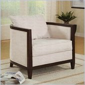 Coaster Upholstered Accent Chair with Exposed Wood