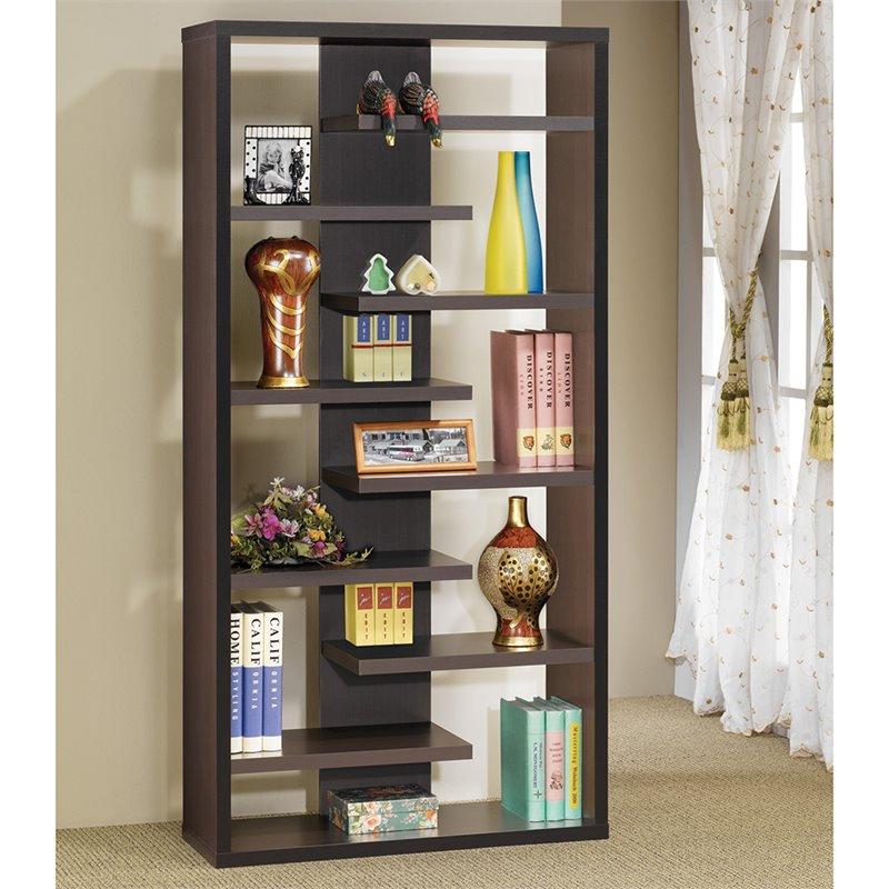 Semi Backless Display Cabinet in Cappuccino