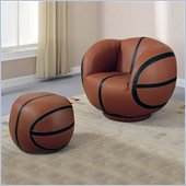 Coaster Kids Basketball Chair and Ottoman