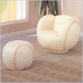 Coaster Kids Baseball Chair and Ottoman