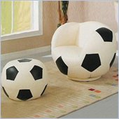 Coaster Kids Soccerball Chair and Ottoman