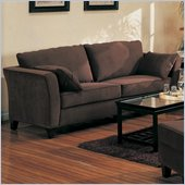 Coaster Park Place Brown Velvet Sofa