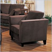 Coaster Park Place Upholstered Chair with Flair Tapered Arm