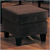 Coaster Park Place Upholstered Ottoman with Exposed Wood Feet