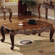 ADD TO YOUR SET: Coaster Venice Traditional Rectangular Cocktail Table in Deep Brown Finish