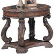 ADD TO YOUR SET: Coaster Doyle Traditional Oval End Table with Glass Inlay Top