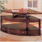 Coaster Evans Contemporary Pie Shaped Lift Top Cocktail Table with Storage
