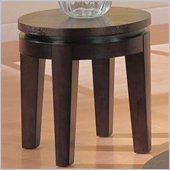 Coaster Bosworth End Table in Deep Dark Cappuccino Wood Finish