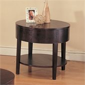 Coaster Gough Round End Table with Shelf