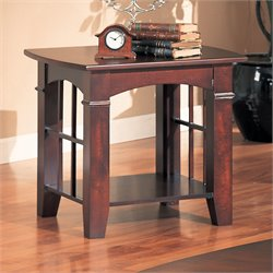 Coaster Abernathy End Table in Cherry