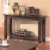 Coaster Abernathy Sofa Table with Shelf in Cherry