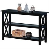 Coaster Cappuccino Briarcliff Casual Sofa Table with 2 Shelves