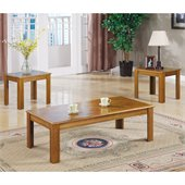 Coaster 3 Piece Natural Oak Occasional Table Set