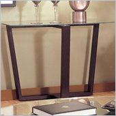 Coaster  Howard Contemporary Glass Top Sofa Table in Black