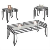 Coaster 3 Piece Black Matrix Occasional Table Set