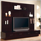 Coaster Cappuccino Contemporary Entertainment Wall Unit