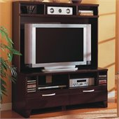Coaster Cappuccino Transitional Entertainment Wall Unit
