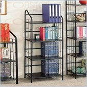 Coaster Four Tier Black Metal Bookcase