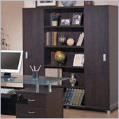Coaster Sliding Door Bookcase in Mahogany