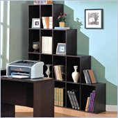 Coaster Decarie Asymmetrical Cube Shelf Bookcase in Mahogany
