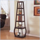 Coaster Square Tiered Bookcase in Cappuccino