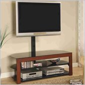 Coaster Walnut Casual Contemporary Media Console with Bracket