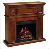 Coaster Mahogany Electric Fireplace