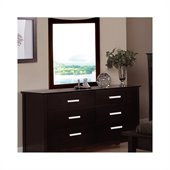Coaster Stuart Dresser and Mirror Set in Cappuccino Brown Finish