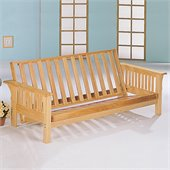 Coaster Full Size Futon Frame in Natural Finish
