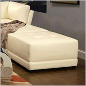 Coaster Kayson Contemporary Square Bonded Leather Ottoman in White