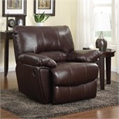 Coaster Clifford Recliner in Brown Leather Match