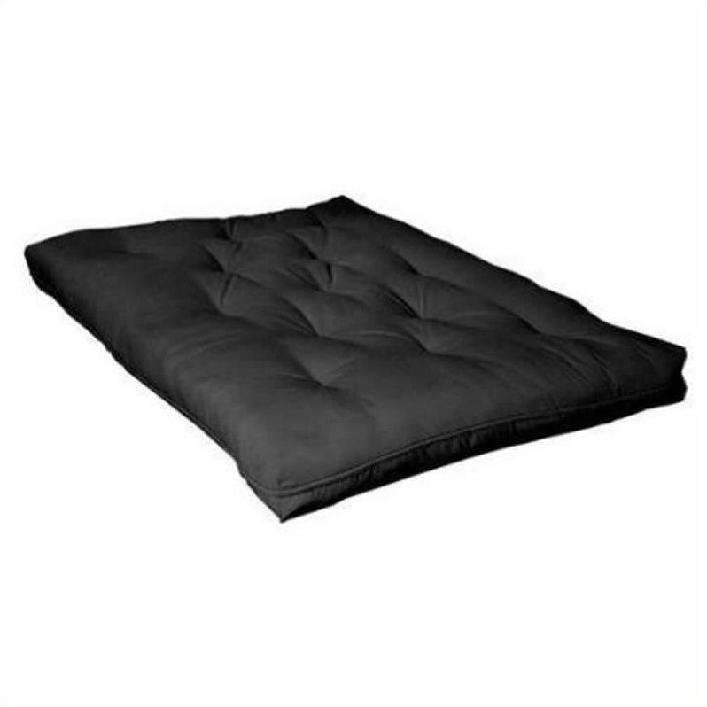 Coaster Deluxe Innerspring Futon Mattress in Black