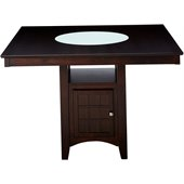 Coaster Hyde Counter Height Square Dining Table with Storage Base in Cappuccino