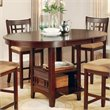 ADD TO YOUR SET: Coaster Lavon Counter Height Dining Table in Cherry  Finish