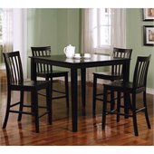 Coaster Ashland 5 Piece Counter Height Dining Set in Black