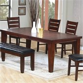 Coaster Imperial Dining Table with 18 Leaf Extension in Rustic Oak