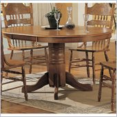Coaster Mackinaw Oval Dining Table with Leaf Extension in Light Oak
