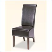 Coaster Bycast Vinyl Rolled Back Parson Dining Chair in Chocolate
