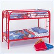 ADD TO YOUR SET: Coaster Toby Twin over Twin Metal Bunk Bed in Red Finish