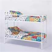 Coaster Toby Twin over Twin Metal Bunk Bed in White Finish