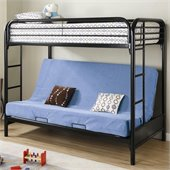 Coaster Fordham Twin Over Full Futon Metal Bunk Bed in Black Finish
