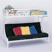 Coaster C Style Metal Twin over Futon Bunk Bed in White Finish