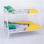 Coaster Tracey Twin over Full Metal Bunk Bed in White Finish