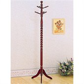 Coaster Coat Rack with Twisted Post in Cherry